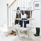 Uscator de haine incalzit Lakeland Dry Soon 3 Tier Heated Tower Airer